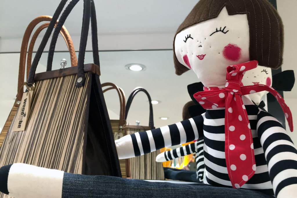 Wooditbe wodden bags and Irregular Princess dolls at PENTLJA CONCEPT STORE