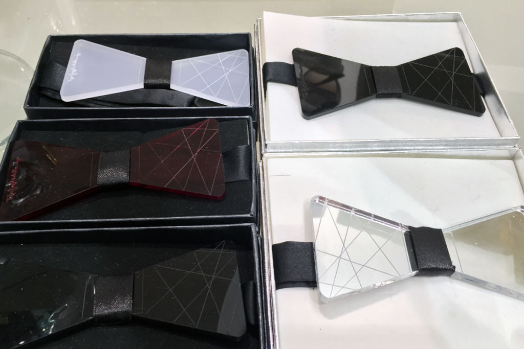 TejaJeglichDesign acrylic bow ties c at PENTLJA CONCEPT STORE