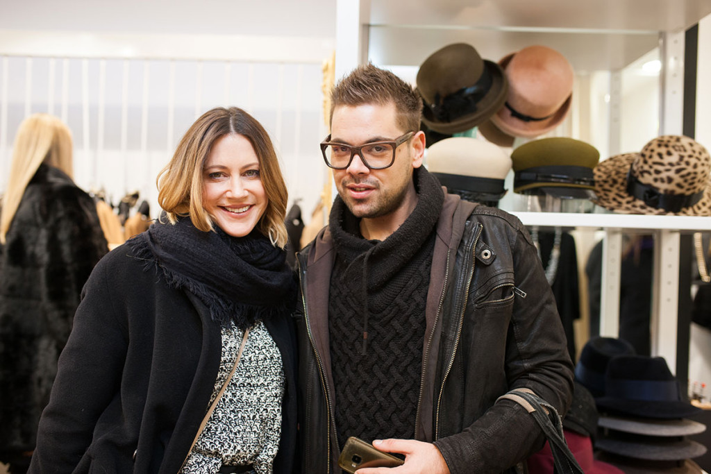 Hannah Mancini and Nejc Simšič at PENTLJA CONCEPT STORE Stylish Cheers