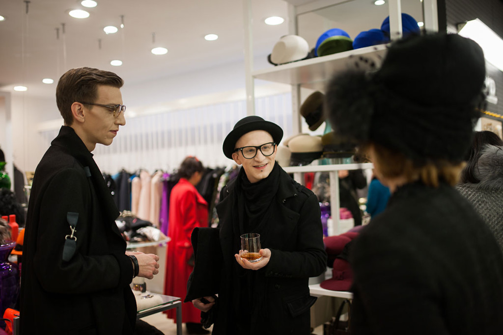 Matjaž Plošinjak and Eric Maj Potočnik at PENTLJA CONCEPT STORE Stylish Cheers