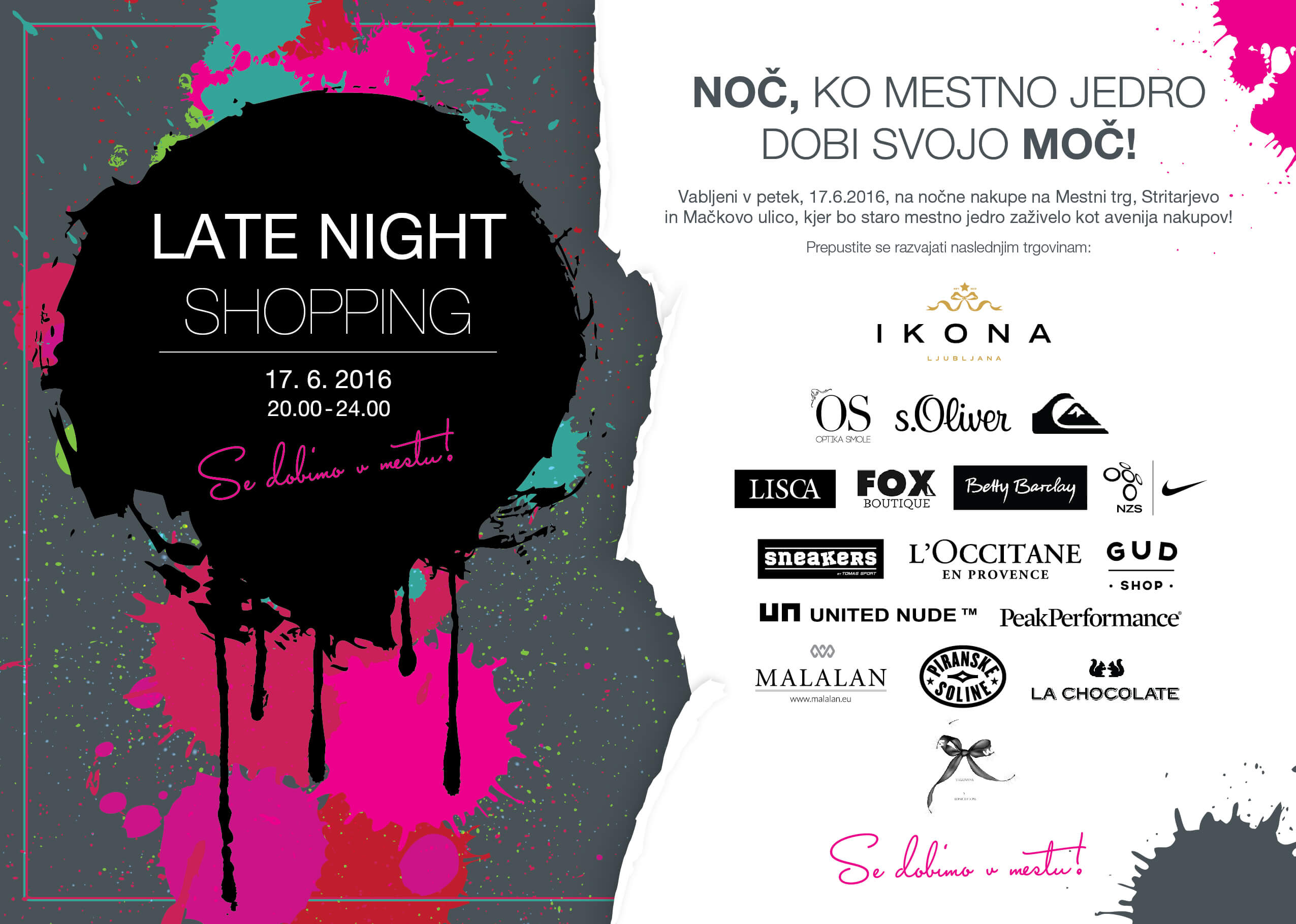 Pentlja Concept Store Late Night Shopping Invitation PENTLJA